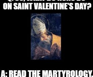 Valentines Day for a nun